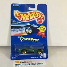 #2  Dodge Viper RT/10 #210 * Green w/ 5sp * Blue Card Hot Wheels * NE25