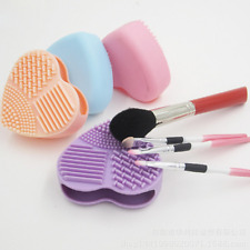 Mini Soft Rubber Makeup Brush Cleaning Plate Pad Board Washing Tool Cleaner UK