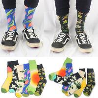 Men's Long Cotton Socks Tide Brand Funny Socks Novelty Art Graffiti Stockings CA
