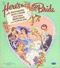 Vintage 1956 Heres Bride Paper Dolls Laser Reproduction~Org Size Uncut No1 Selr