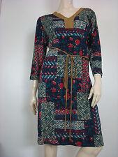 Ralph Lauren Women's Plus Faux Suede Red Blue Floral Patch Shift Dress 1X