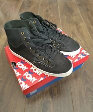 PONY Baskets Vintage Slamdunk Hi-Top Bottes Baskets Noir 7.5 UK