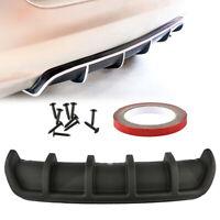 Universal  6 Fin Shark Car Rear Bumper Lip Diffuser Fin Carbon Fiber Color Style