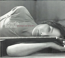 CD ET DVD DIGIPACK CARLA BRUNI QUELQU'UN M'A DIT DE 2003 TBE
