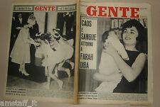 GENTE 1961/20=FARAH DIBA COVER MAGAZINE=QUEEN ELIZABETH=ANNA MARIA PIETRANGELI=
