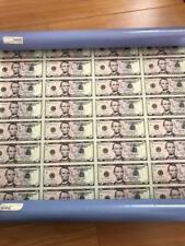 Uncut Five Dollar Bill Currency sheet $5 x 32 Subject 2006 Notes