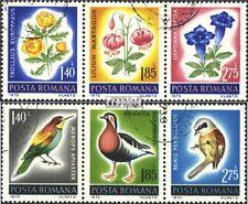 Rumänien 3103-3108 Dreierstreifen (komplette Ausgabe) gestempelt 1973 Naturschut