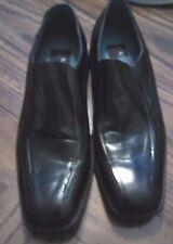 JF J FERRAR Mens Black Leather liner Slip On Casual Dress Shoes Loafers 11  M