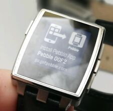 Pebble Steel 33mm Stainless Steel Case Black Classic Buckle Refurbished Grade A