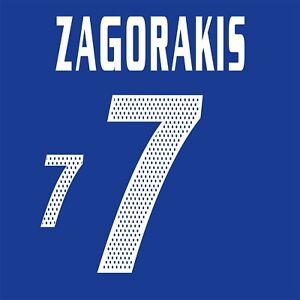 Zagorakis 7. Greece Home football shirt 2004 - 2006 FLEX NAMESET NAME SET
