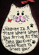Cat Heaven Is A Place Sign In Memory Plaque Pet Groomer Kennel Wood Crafts