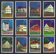 LIECHTENSTEIN 1978 MNH SC.638/649 Houses