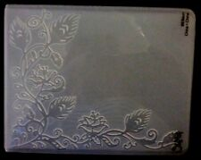 Sizzix Large Embossing Folder PEACOCK FEATHER VINE fits Cuttlebug 4.5x5.75in