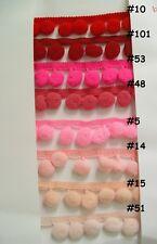 10 yds pompom trims size 1cm. 50  tone (Color that you perfer)