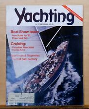 Yachting - October 1982 - cover photo of the sailboat Nirvana - Boat Show issue