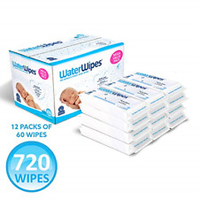 WaterWipes Unscented Baby Wipes, Sensitive and Newborn Skin, 12 Packs 720 Wipes