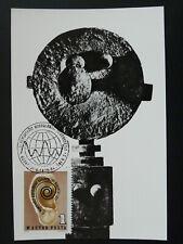 medicine audiology deaf sculpture The Earth Ear maximum card Hungary 85911