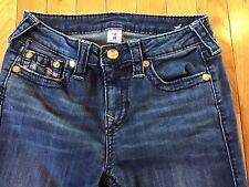 True Religion Super Skinny Denim Jeans Dark Blue Wash Women's Size 28 EUC