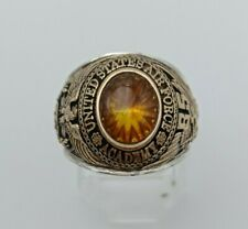 US Military Academy AIR FORCE Rings 1985 size 9 , Citrine Stone , Gold 10k