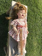 "Adorable , Ideal SAUCY WALKER 22"" tall, c1951 hard plastic doll, all orig."