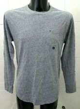 NEW Hollister Must Have Collection Crew Neck Long Sleeve Tee, Grey Marl - S