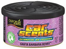 4 Pack of California Scents Santa Barbara Berry Car & Home Air Freshener Can Tin