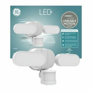 LED+ by GE - Daylight 250Watt LED Dusk to Dawn Outdoor Security Pack w/ Motion