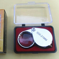 Mini 30X 21mm Folding Jeweler Loupe Magnifying Magnifier Hand Lens Glass New