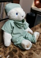 The Vermont Teddy Bear Company Doctor Surgeon Nurse Plush Toy Scrubs handmade