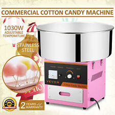 MACCHINA ZUCCHERO FILATO STAINLESS 1030W SUGAR FLOSS MAKER PINK PARTY COMMERCIAL