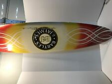 RARE Man Cave Must Have! Bartles and Jaymes 5 ft wood surfboard sign wine cooler