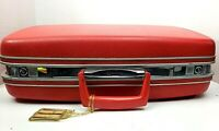 """Vintage  Red Samsonite Silhouette Hard Shell Suitcase Luggage 22"""" X 16"""""""
