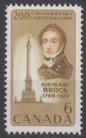 CANADA #501 6¢ Sir Isaac Brock Mint Never Hinged