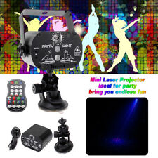 Laser 60 Patterns RGB LED Projector Party KTV Disco USB Rechargeable Stage Light
