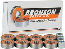 BRONSON SPEED CO G2 Next Generation Skateboard BEARINGS w/ Spacers
