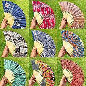 Stunning Extra Large Indonesian Batik Folding Hand Held Fan - 50 Designs