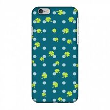 AMZER Snap On Case Shamrocks Lime Green HARD Plastic Protector Phone Cover