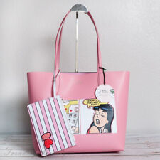 NWT Kate Spade x Archie Comics Leather Reversible Tote in Pink Limited Edition
