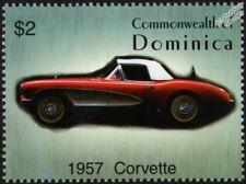 1957 CHEVROLET CORVETTE (Chevy) Mint Automobile Car Stamp (2003 Dominica)
