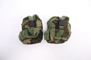 TWO (2X) Safariland SPEAR 1 Quart Canteen Pouches MOLLE Woodland Navy Option