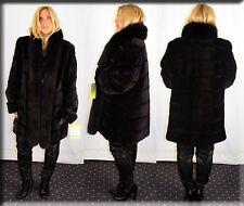 New Reversible Purple Sheared Mink Fur Coat Tappeta Lining Size Large 10 12 L