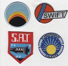 Space 1999 Alpha Moonbase Swift Logo Uniform Jacket Patch Set(4)