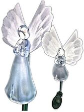 Solar Power Angel w/ Fiber Optic Wings Yard Garden Stake Color Change Led Light