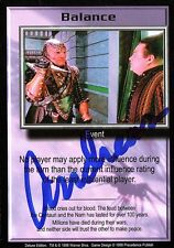 BABYLON 5 CCG Trading Card Andreas Katsulas Signed Photo Balance AUTOGRAPHED