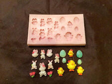 NEW! Easter Bunnies Mold (SM-160) for Cake Decorating, Sugar Flower, Fondant