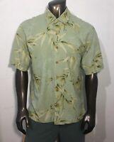 Jamaica Jaxx Men's 100% Silk Size XL Hawaiian Tropical Style Short Sleeve Shirt