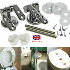 Replacement Chrome Toilet Seat Hinges Mounting; Universal Fittings With Pair Set