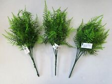 Pack of 3 Artificial Asparagus Fern Bushes - 30cm Tall - Spray - Foliage Bushes