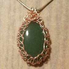 Red Aventurine Point Pendant in Silver Plated Spiral PP52DG