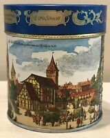 Vintage '91 Gingerbread Tin From Nuremberg E. Otto Schmidt Early City Scenes